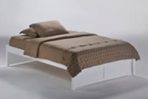 K Series Basic White Platform Bed. By Night U0026 Day Furniture ...