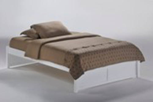 k series basic white platform bed by night day furniture - Basic Bed Frame
