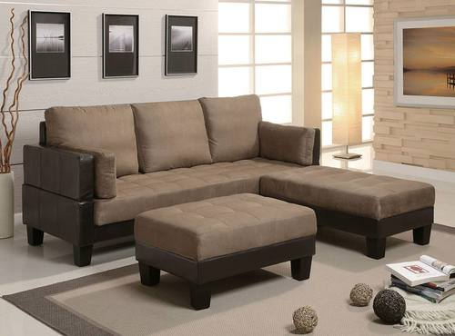 3 Piece Sofa Bed Set in Brown by Coaster