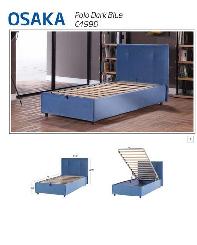 Hydraulic Lift Storage Bed Twin : Osaka lift up storage bed leather textile twin by sunset