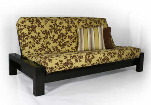 rockwell black walnut queen wall hugger futon set by strata furniture black walnut queen wall hugger futon set by strata furniture  rh   futonland