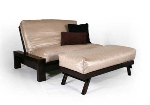 Rockwell Black Walnut Queen Loveseat Wall Hugger Futon Frame By Strata Furniture