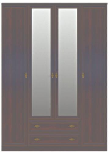 Georgia Dark Oak Ferarra 4 Door Wardrobe W Mirror