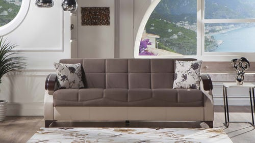 trento selen brown convertible sofa bed by sunset