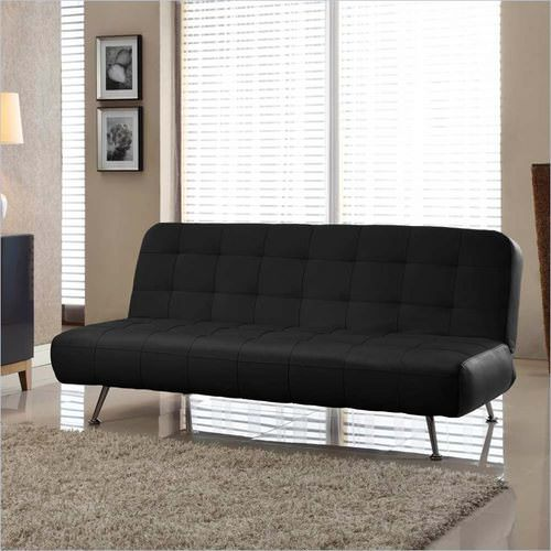 tribeca euro sofa bed bonded leather black by lifestyle solutions euro sofa bed bonded leather black by lifestyle solutions  rh   futonland