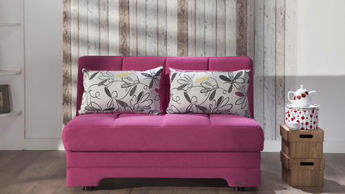 Twist Optimum Fuchsia Love Seat Sleeper with Storage By Sunset