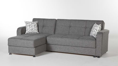 Diego Gray Sectional Sofa by Sunset