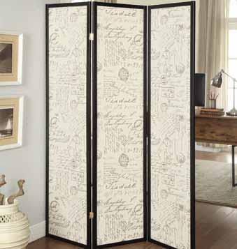 900074 3 Panel Room Divider By Coaster