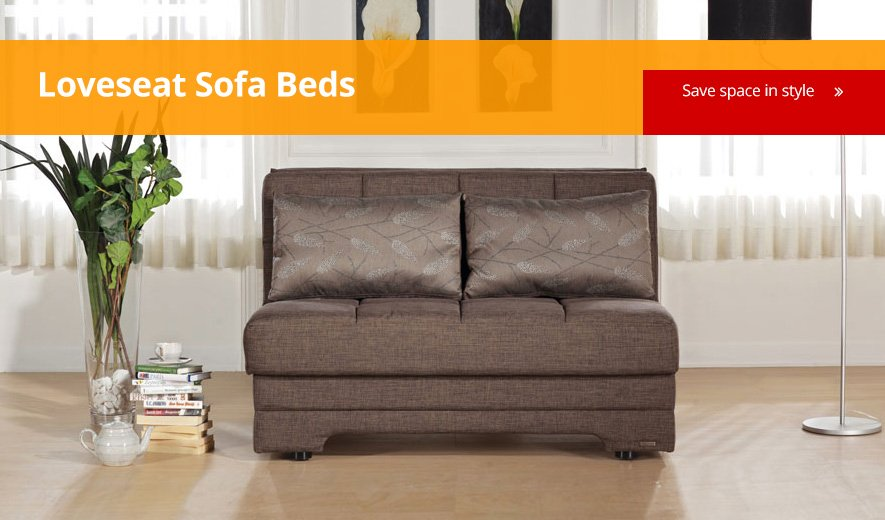Save Space With Loveseat Sofa Beds